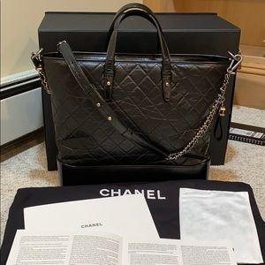Chanel Large Gabrielle Tote in Black Leather